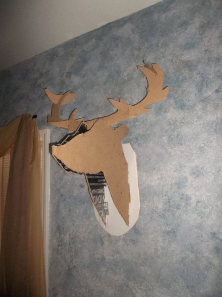 Cardboard Taxidermy Templates Awesome 1000 Ideas About Cardboard Deer Heads On Pinterest
