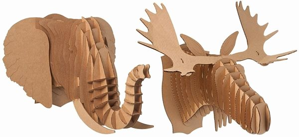 Cardboard Taxidermy Templates Awesome 1000 Images About Cardboard Animal Heads On Pinterest