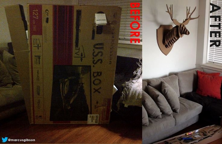 Cardboard Taxidermy Templates Awesome 25 Best Ideas About Cardboard Deer Heads On Pinterest