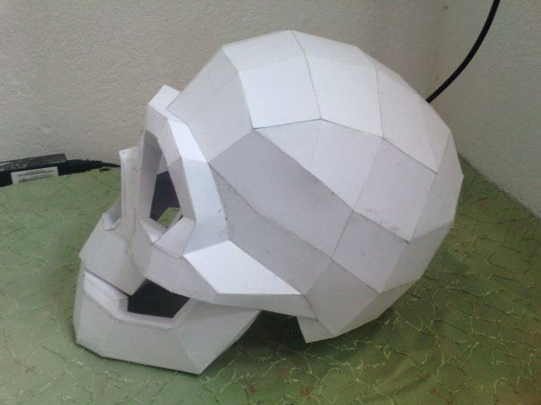 Cardboard Taxidermy Templates Beautiful Life Size Skull Helmet Free Papercraft Template Download