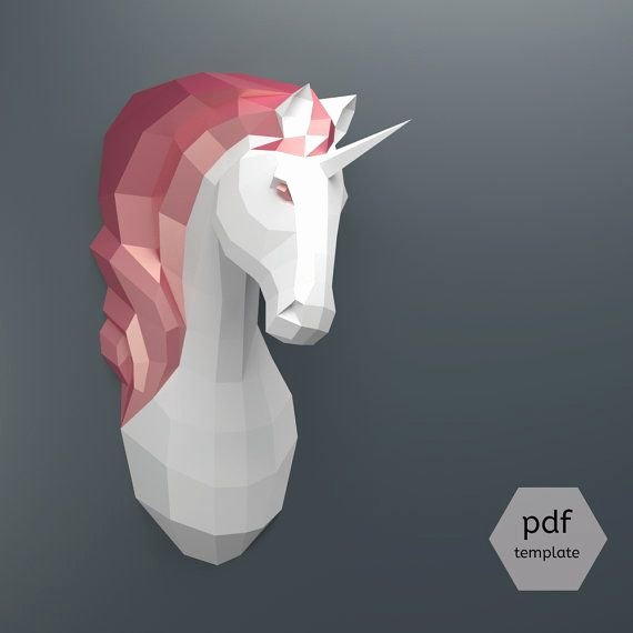 Cardboard Taxidermy Templates Beautiful Pdf Unicorn Pattern Papercraft Make Your Own Papercraft