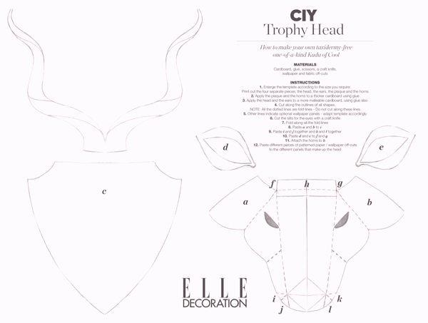 Cardboard Taxidermy Templates Fresh 128 Best Cabezas De Animales Images On Pinterest