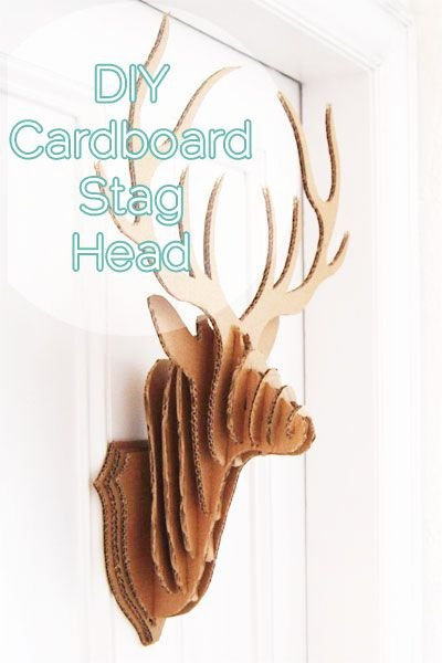 Cardboard Taxidermy Templates Fresh Diy Cardboard Stag Taxidermy with Free Printable