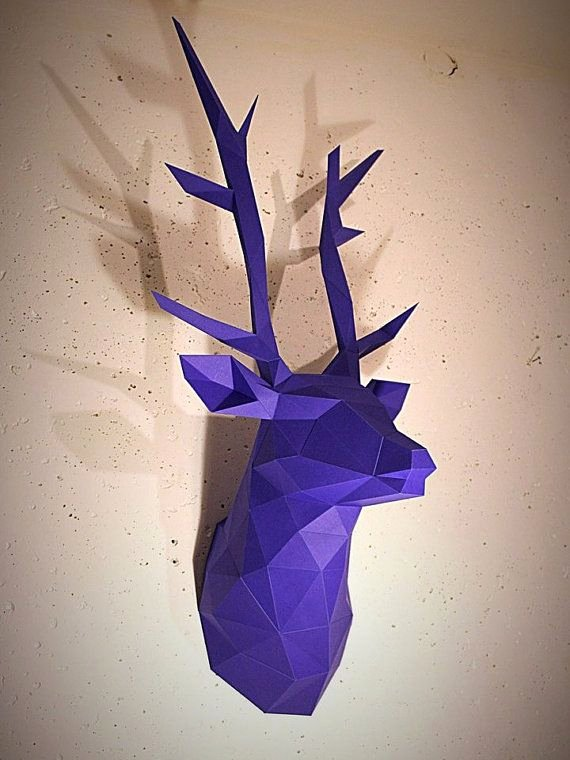 Cardboard Taxidermy Templates Fresh Papercraft Deer Head 1 Printable Diy Template