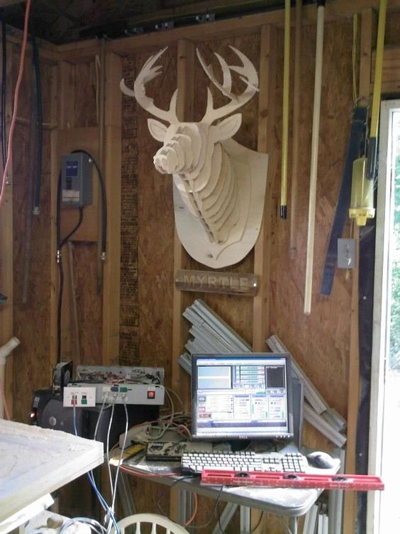 Cardboard Taxidermy Templates Inspirational 3d Cardboard & Duct Tape Deer Head Trophy with Template