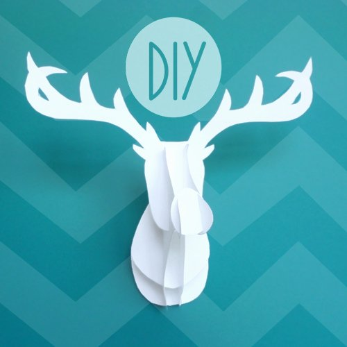 Cardboard Taxidermy Templates Luxury Deck the Holiday S 3d Deer Head