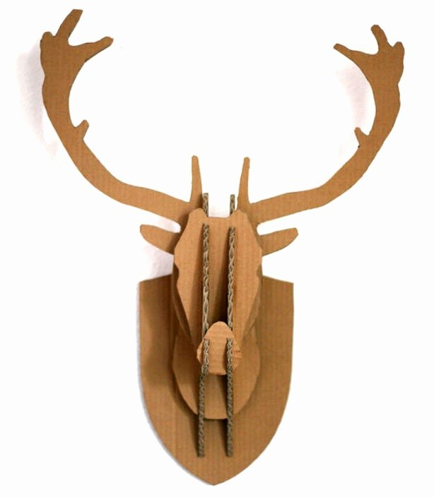 Cardboard Taxidermy Templates New Cardboard Box Stag Deer Head Wall Hanging