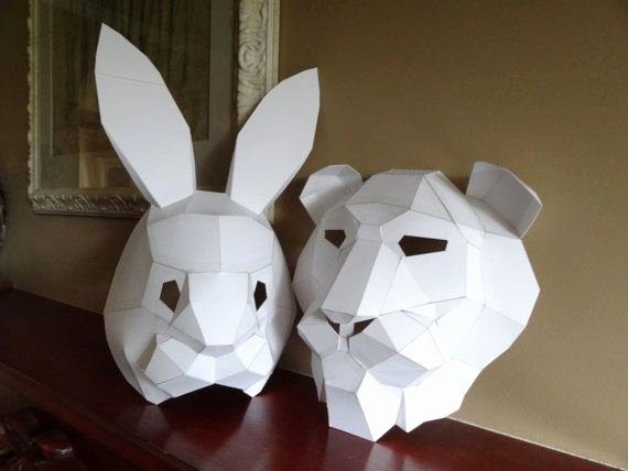 Cardboard Taxidermy Templates Unique 57 Best Images About 8th Grade Geometric Mask On Pinterest
