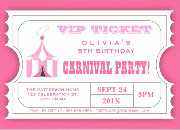 Carnival Invitation Template Free Beautiful 27 Carnival Birthday Invitations Free Psd Vector Eps