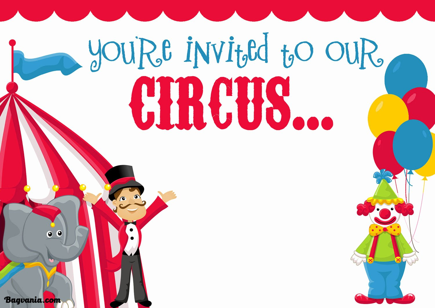 Carnival Invitation Template Free Inspirational Free Printable Circus Birthday Invitations Template – Free
