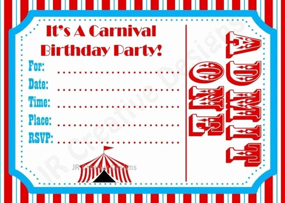 Carnival Invitation Template Free New Free Carnival Birthday Invitations Template Google