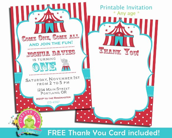 Carnival Invitation Templates Awesome 27 Carnival Birthday Invitations Free Psd Vector Eps
