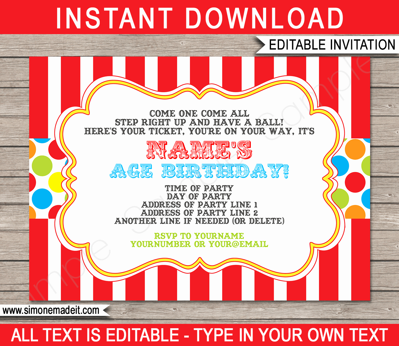 Carnival Invitation Templates Beautiful Carnival Invitation Template