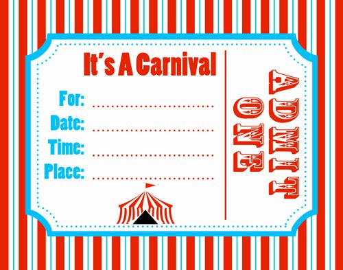 Carnival Invitation Templates Beautiful Free Carnival Ticket Template Download Free Clip Art