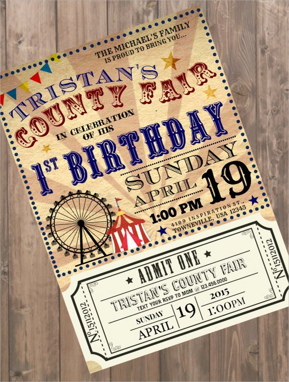 Carnival Invitation Templates Best Of 18 Sample Ticket Invitations Psd Ai Word