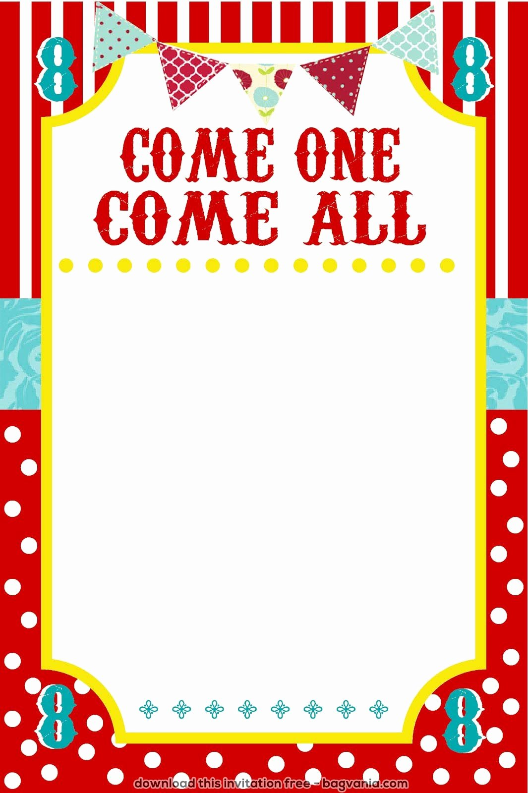 Carnival Invitation Templates Best Of Free Carnival Birthday Invitations – Free Printable