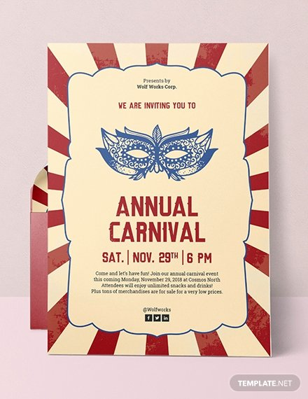 Carnival Invitation Templates Elegant 17 Free Word event Invitation Templates