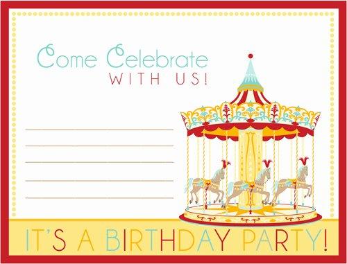 Carnival Invitation Templates Elegant Free Carnival Ticket Invitation Template Download Free