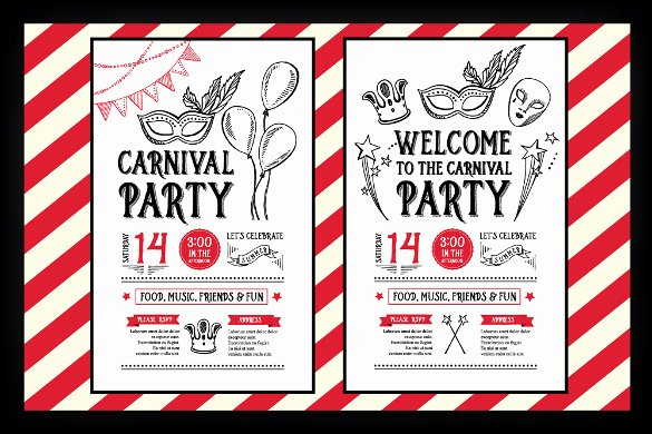 Carnival Invitation Templates Fresh Circus Party Invitation Template – 23 Free Jpg Psd