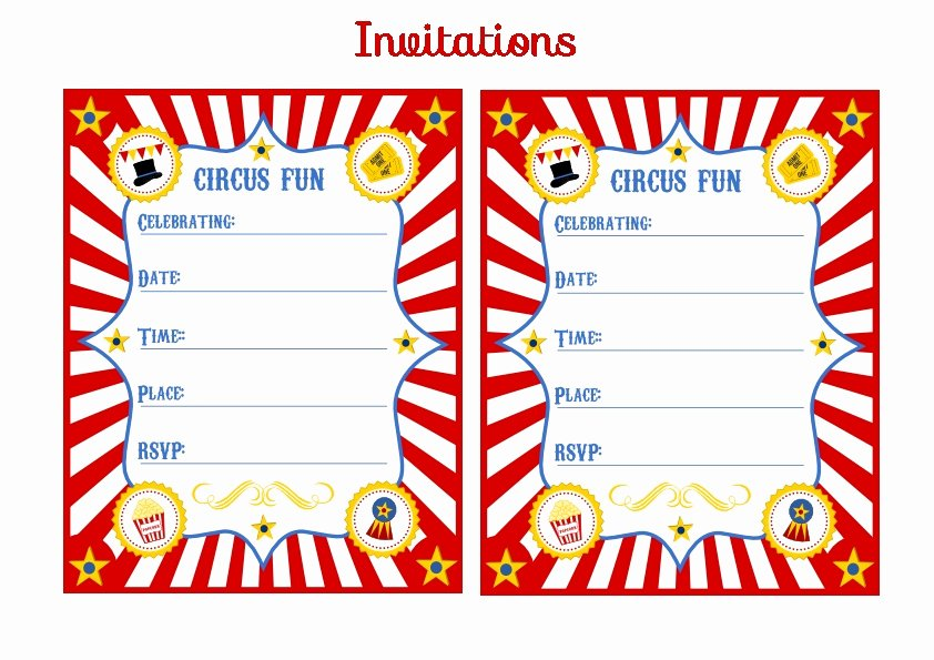 Carnival Invitation Templates Inspirational Free Printable Kids Circus Party Invitation Clipart Best