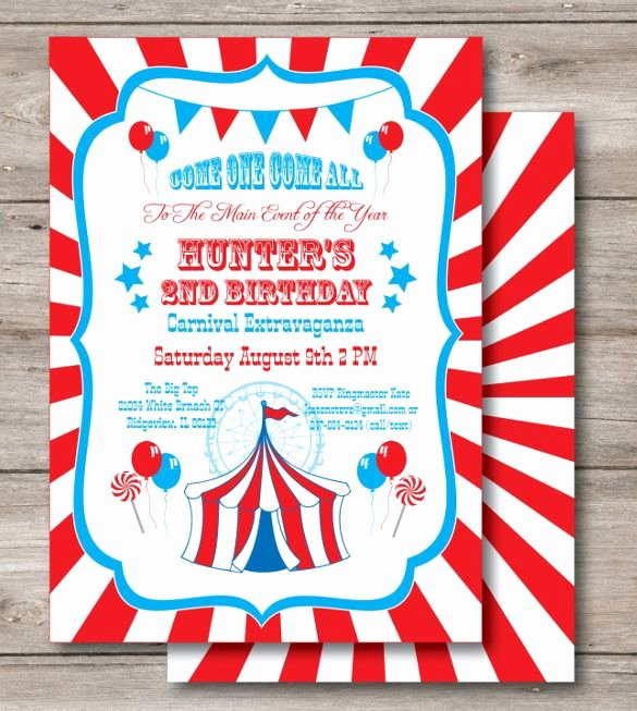 Carnival Invitation Templates Luxury 23 Carnival Birthday Invitations – Free Psd Vector Eps