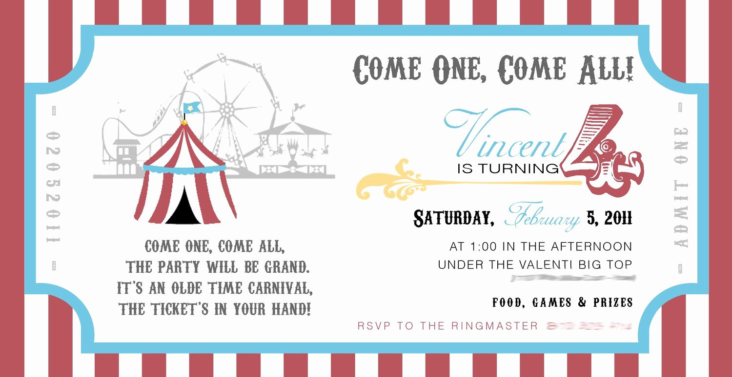 Carnival Invitation Templates New 301 Moved Permanently