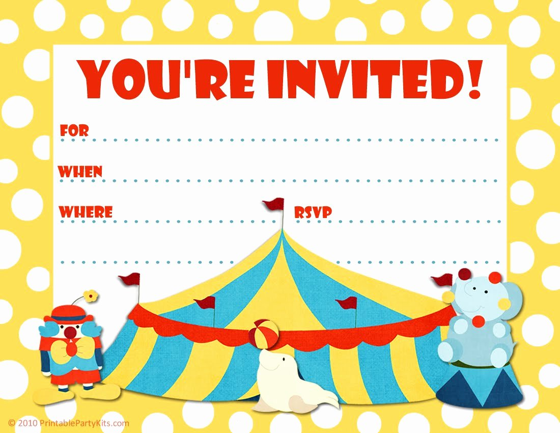 Carnival Invitation Templates New Free Carnival Ticket Invitation Template Download Free