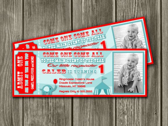 Carnival Ticket Birthday Invitations Awesome Printable Vintage Circus Ticket Birthday Invitation Kids