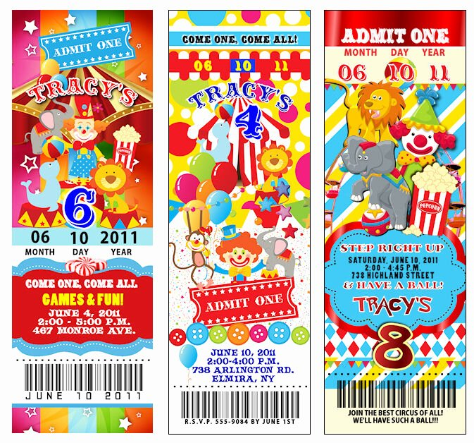 Carnival Ticket Birthday Invitations Fresh 25 Circus Carnival Vintage Ticket Invitations Thickcc