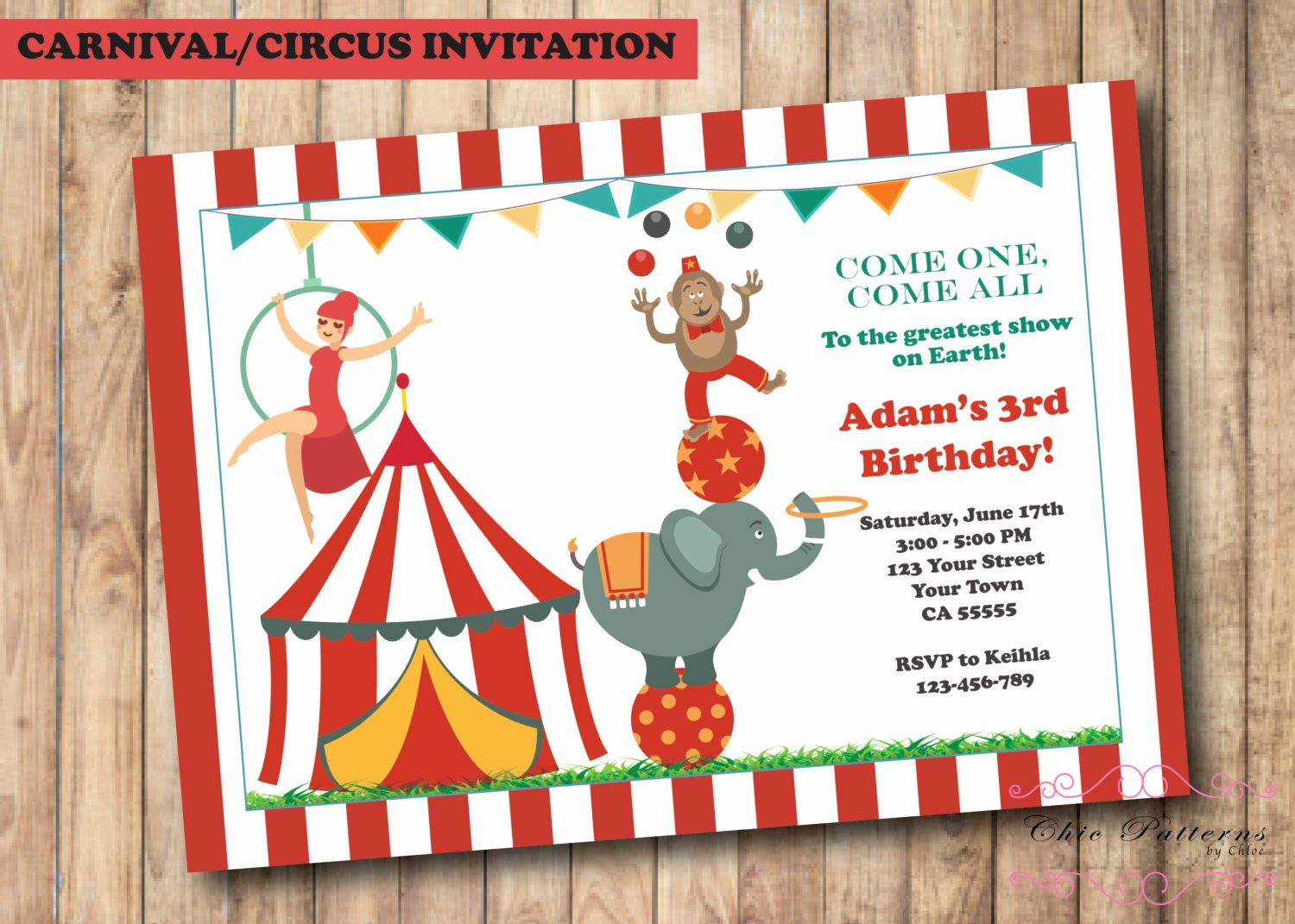 Carnival Ticket Invitation Beautiful Carnival Invitations Circus Invitations Ticket Invitations