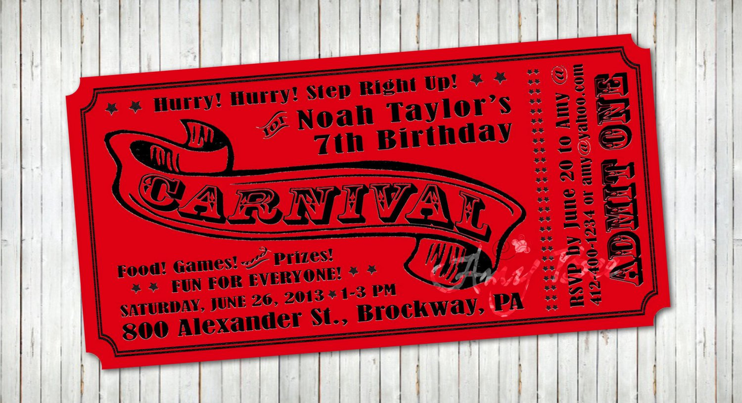 Carnival Ticket Invitation Best Of Carnival Ticket Invitation Printable