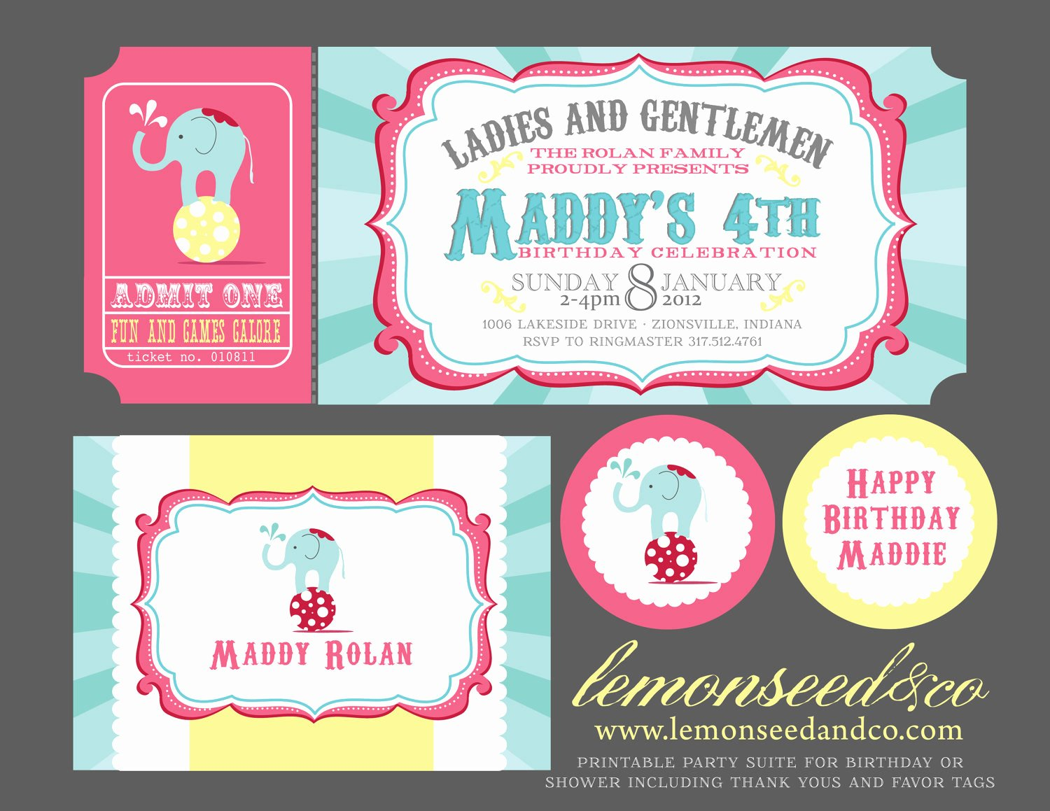 Carnival Ticket Invitation Elegant Reserved for Yadel Carnival Invitations Circus Invitations