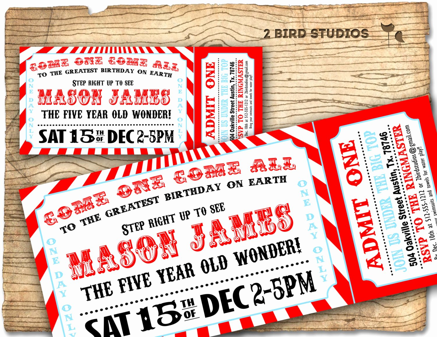 Carnival Ticket Invitation New Circus Invitation Vintage Circus Birthday Invite