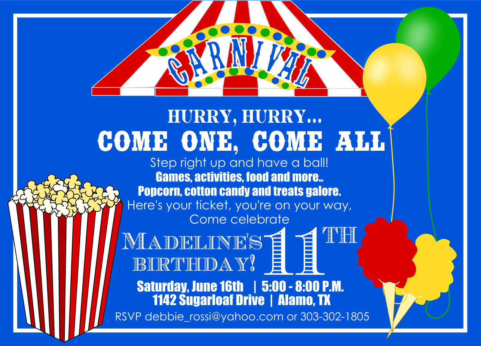 Carnival Ticket Invitation Template Free Best Of 40th Birthday Ideas Carnival Birthday Invitation Template
