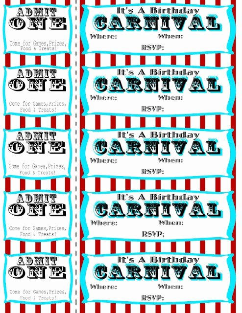 Carnival Ticket Invitation Template Free Fresh Seeshellspace Carnival Free