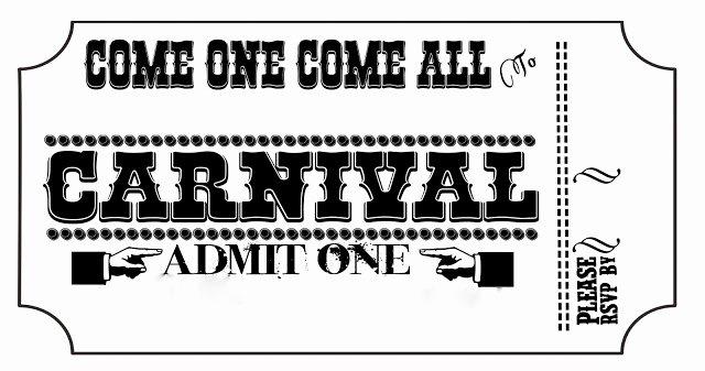 Carnival Ticket Invitation Template Free Luxury Carnival Wedding Diy Invitation Tickets