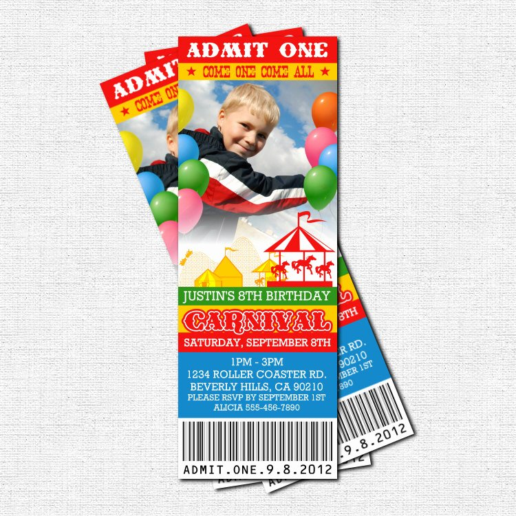 Carnival Ticket Invitation Template Free Luxury Free Carnival Ticket Invitation Template Download Free