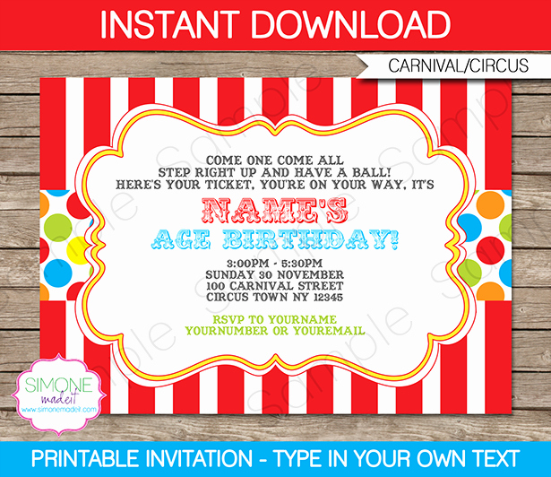 Carnival Ticket Invitation Template Free New Carnival Invitation Template – Colorful