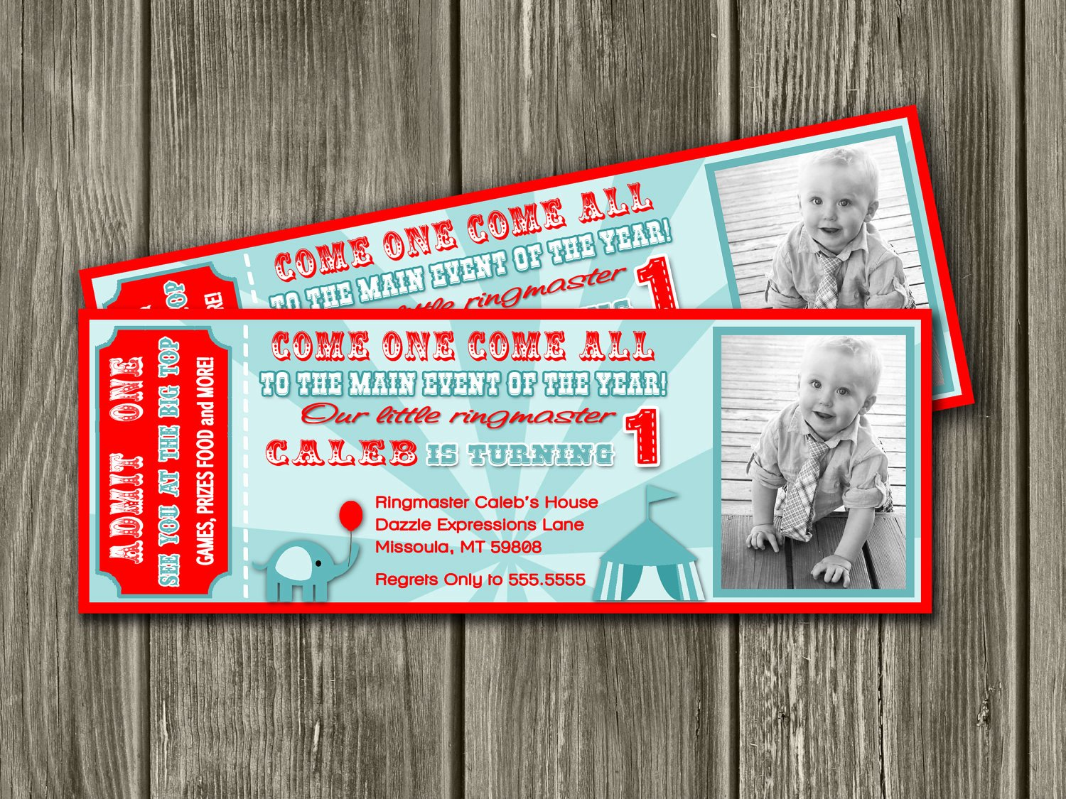 Carnival Ticket Invitation Template Free New Vintage Circus Ticket Invitation – Invitation Templates