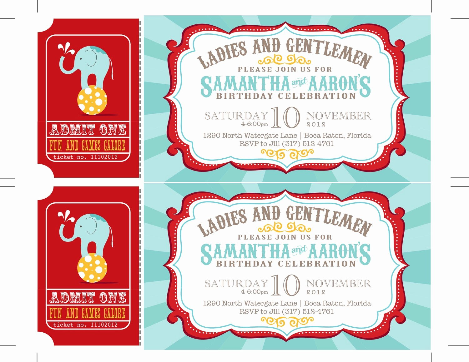 Carnival Ticket Invitation Unique Reserved Carnival Invitations Circus Invitations Ticket
