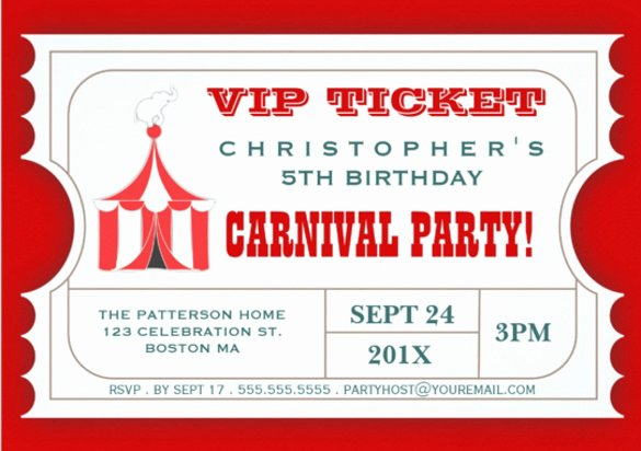 Carnival Ticket Invitations Beautiful 47 Ticket Invitation Templates Psd Ai Word Pages