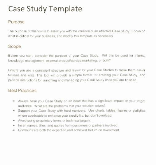 Case Review Template Elegant Case Study format