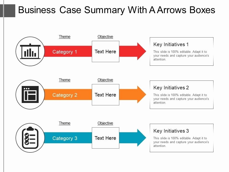 Case Review Template Lovely Business Case Summary with A Arrows Boxes