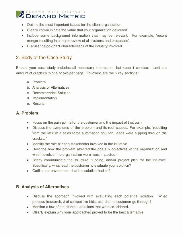 Case Review Template Unique Business Case Study format Outline Researchmethods Web