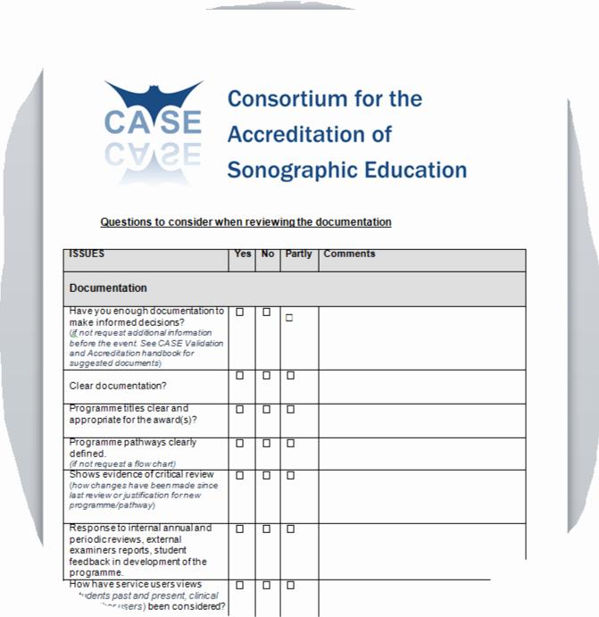 Case Review Template Unique Documentation Checklist