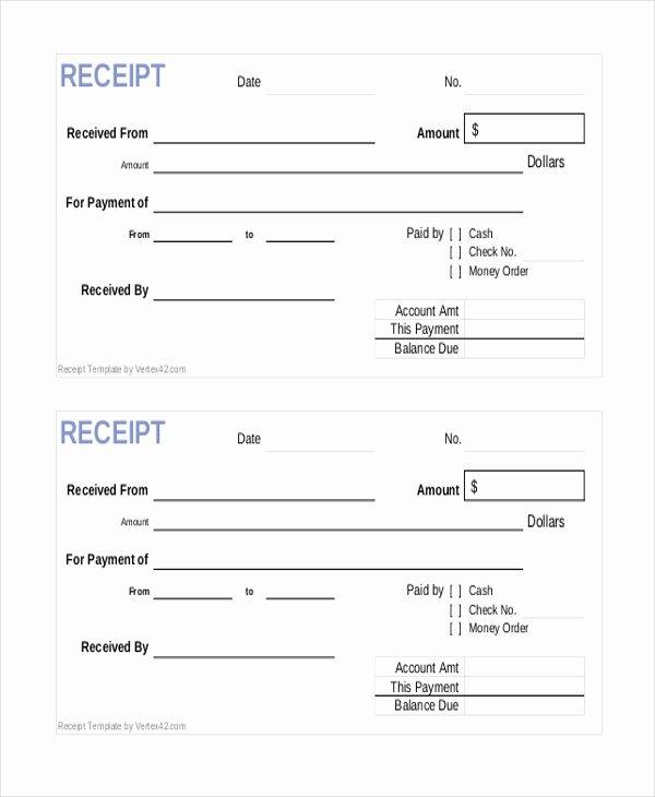 Cash Sale Receipt Template Word Elegant Sample Sales Receipt form 9 Free Documents In Pdf