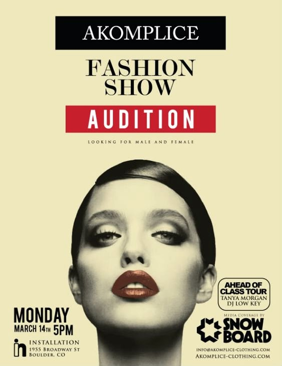 Casting Call Flyer Template Beautiful Fashion Show Auditions Flyer Fashion Show