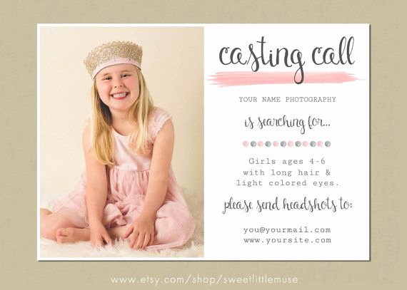 Casting Call Flyer Template Best Of Casting Call Template Photography Casting Call 5x7