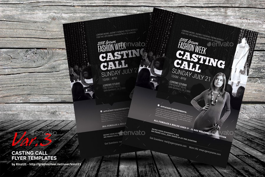 Casting Call Flyer Template Lovely Casting Call Flyer Templates by Kinzi21