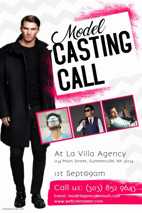 Casting Call Flyer Template Lovely Model Casting Call Flyer Template